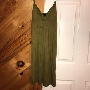 Forever 21 adjustable strap green dress